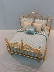 Custom Dressed Brass Bed