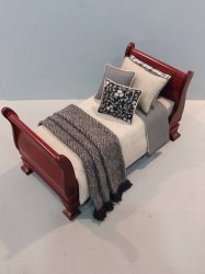 Custom Dressed Sleigh Bed