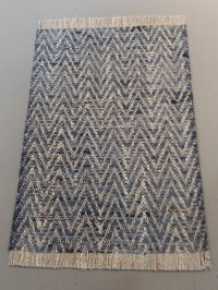 WAR - 223 Blue & Taupe Chevron