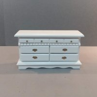 White Scallop Edge Dresser