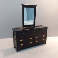Black Triple Dresser/Mirror