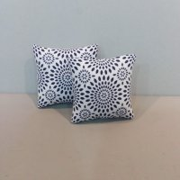 Navy & White Medallion Pillows