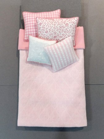 S-369 Pink Quilted - White Accents
