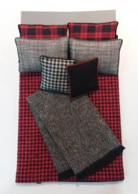D-179 Red/Black Flannel Check