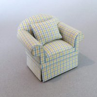 Country Casual Chair Yellow Plaid