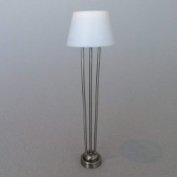 Modern/Deco Floor Lamp Pewter Finish