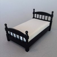 Traditional Single Bed Ebony finish