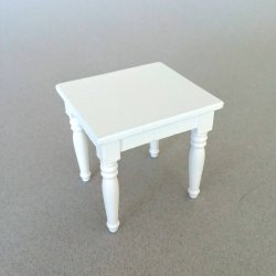 Country Casual End Table - White