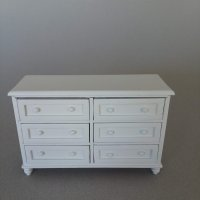 Double Dresser - White finish
