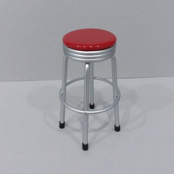 Bar Stool with Red Seat
