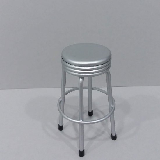 Bar Stool - Silver Seat - Click Image to Close