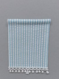 Roller Shade - Blue Plisse fabric