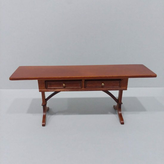 Presidential Writing Table - Walnut - Click Image to Close
