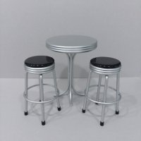 Bar Table & stools - Black