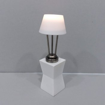 Modern/Deco Table Lamp Pewter Finish