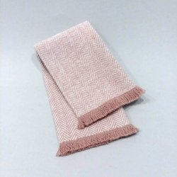 FT8-108 Blush Fringed Throw
