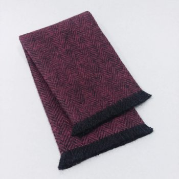 FT7-103 Wine Fringed Throw