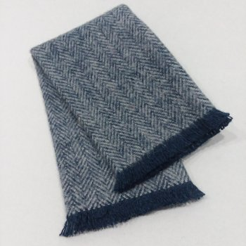 FT7-106 Steel Blue Fringed Throw