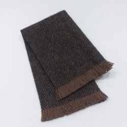 FT7-105 Chocolate Fringed Throw