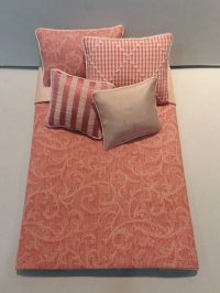 S-372 Scroll Design Coral & Blush