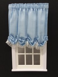 #102-Balloon Shade #6 Blue Gingham