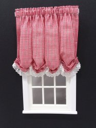 #102-Balloon Shade #8 Red Gingham