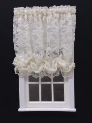 #102-Balloon Shade #L11 Ivory Lace