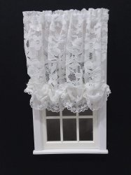 #102-Balloon Shade #L10 White Lace