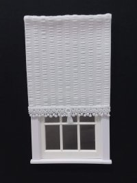 Roller Shade - White Plisse Fabric