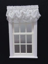 #101-Balloon Valance -#2 White