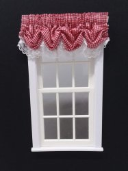 #101-Balloon Valance - #8 Red Gingham