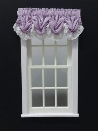 #101-Balloon Valance - #4 Lilac Gingham