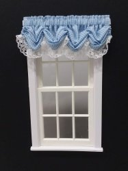 #101-Balloon Valance - #6 Blue Gingham