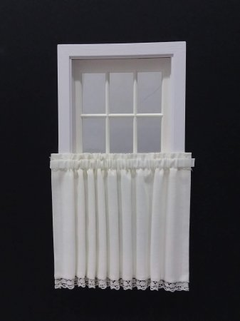 Single Tier Curtain - White #2
