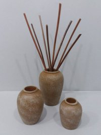 Set of 3 Pots with Sticks