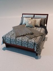 Modern Bed - Animal print fabric