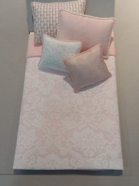 S-379 White Damask Pink accents