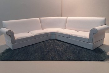 Linen Sectional - White