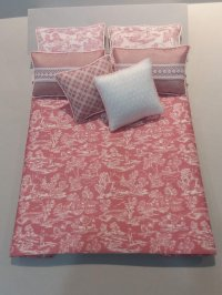D-163 White on Rose Toile