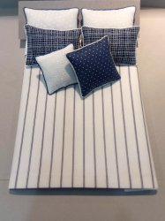 D-213 Navy & White Pin Stripe