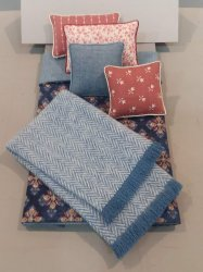 S-376 Quilt Pattern Navy & Rose