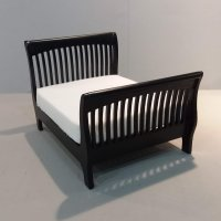 Slat Queen Bed - Black