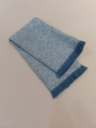 FT8-110 Denim Fringed Throw