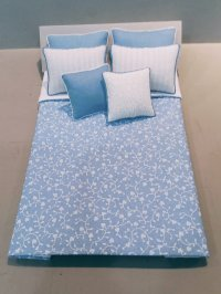D-226 Sky Blue & White Vine Design