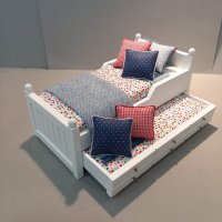 Trundle Bed/Multicolor Dots