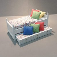 Trundle Bed/Multi Dots, Cobalt, Lime & Coral