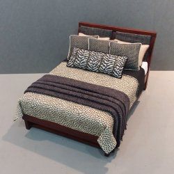 Modern Bed - Leopard Print fabric