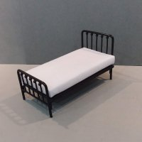 Black Metal Single Bed