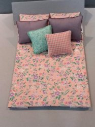D-248 Peach/Teal and Lilac Floral