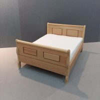 Double Sleigh Bed Oak finish